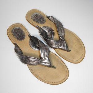 BOC Born Concept Pewter Silver Flip Flop Sandals